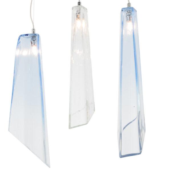 SOSPENSIONE con diffusore in vetro soffiato di Murano fatto a mano disponbile in quattro colori sfumati: Crypto 292/S