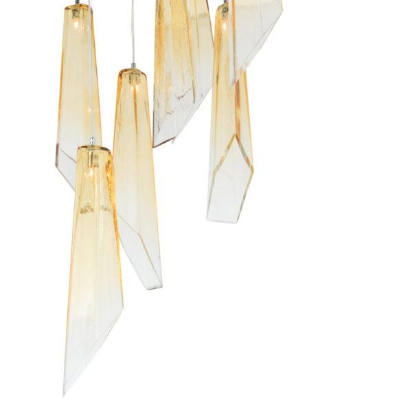 SOSPENSIONE con diffusore in vetro soffiato di Murano fatto a mano disponbile in quattro colori sfumati: Crypto 293/S