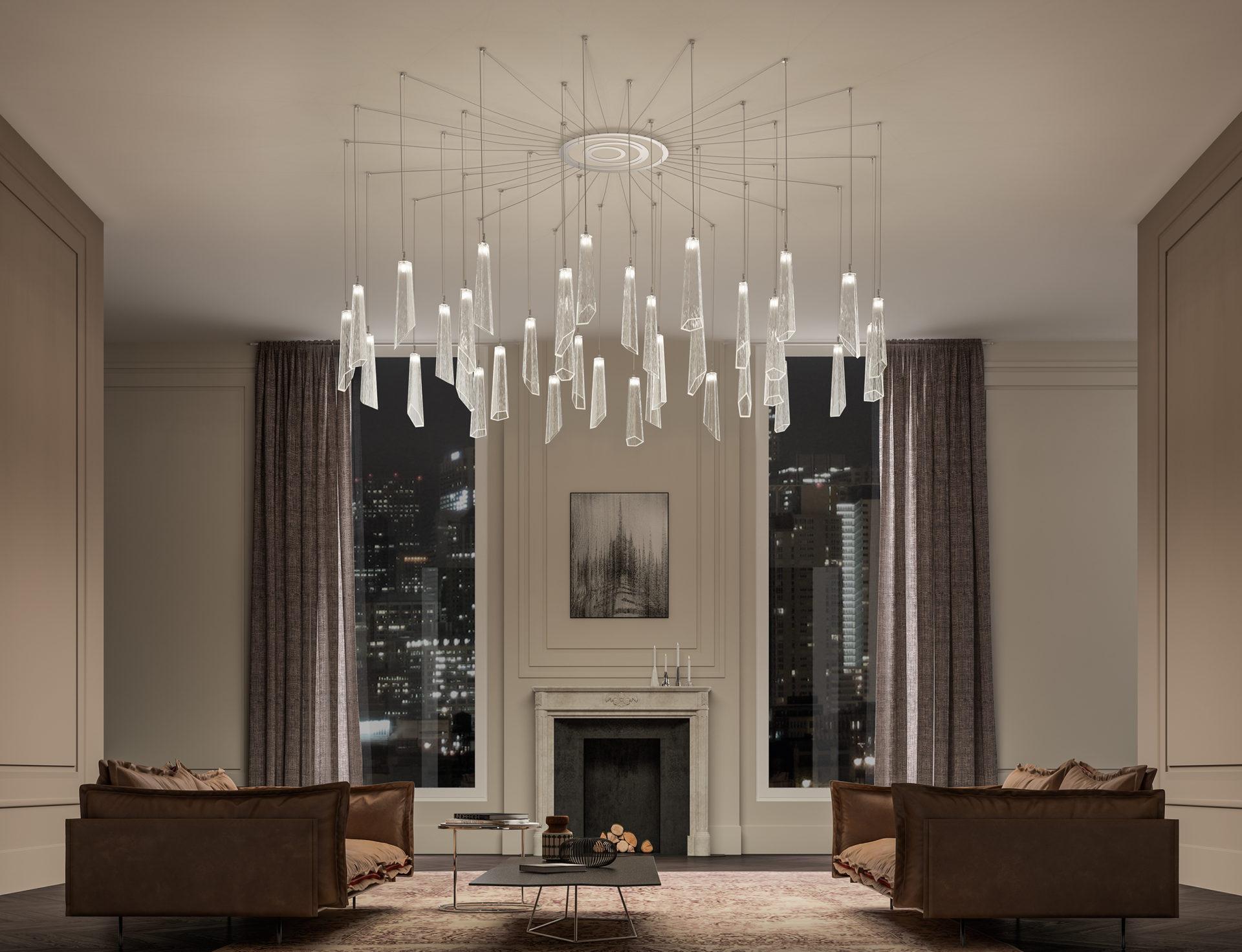 Come illuminare un soggiorno moderno