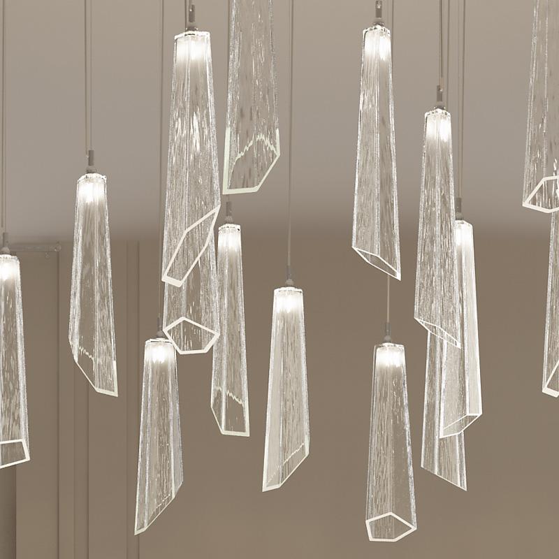 SOSPENSIONE con diffusore in vetro soffiato di Murano fatto a mano disponbile in quattro colori sfumati: Crypto 296/S