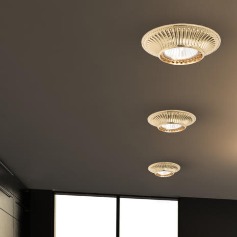 FARETTO in fusione di ottone disponibile in 10 diverse finiture: Spot Lights 477/F