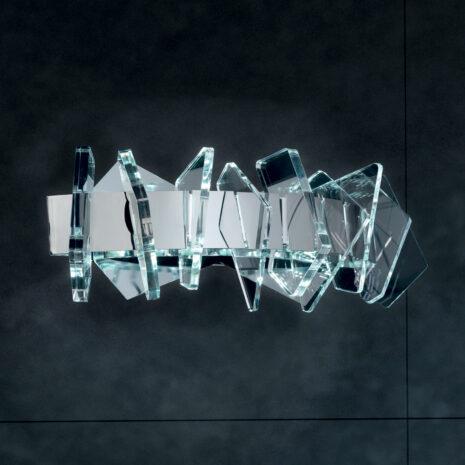 APPLIQUE a LED, con montatura in oro 24 carati o cromo lucido e dettagli sagomati in Acriclico trasparente: Eos 830/APP