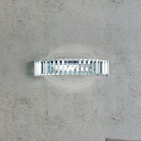 APPLIQUE con fascia in cristallo purissimo e montatura in cromo lucido o oro 24 carati: Fedi 9250/APP