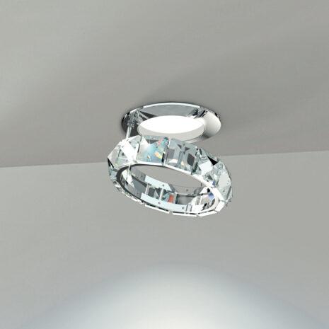 FARETTO con anello in cristallo purissimo e montatura in cromo lucido o oro 24 carati: Fedi 9250/F