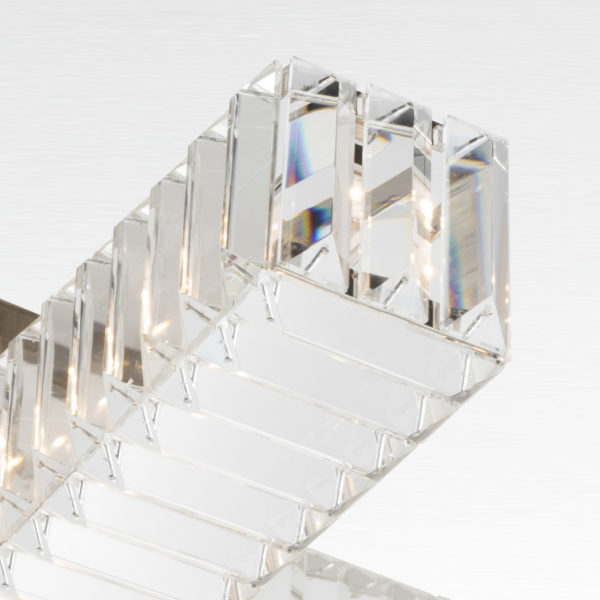 SOSPENSIONE con elementi rettangolari in cristallo e struttura portante di metallo in diverse finiture: New York 9282/S