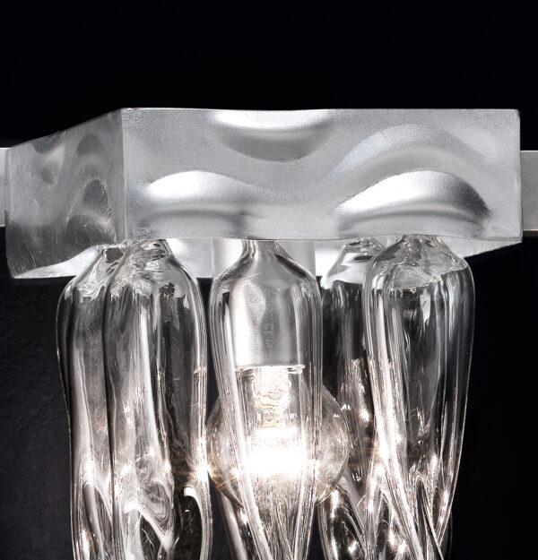 Applique dai decori in vetro di Murano variopinti, struttura in foglia oro o foglia argento: Alaska 530-APP2
