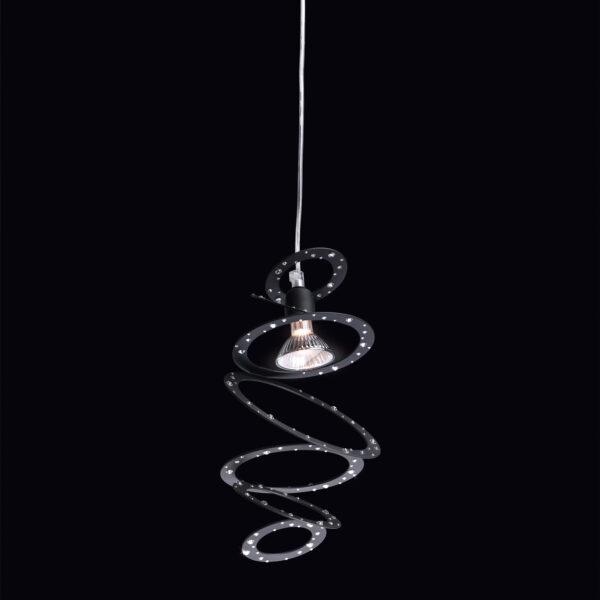 Sospensione moderna e di design in anelli concentrici di metallo verniciato: Cassiopea 800-S1