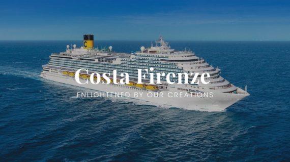 Costa Firenze enlightenend by Patrizia Volpato's creations