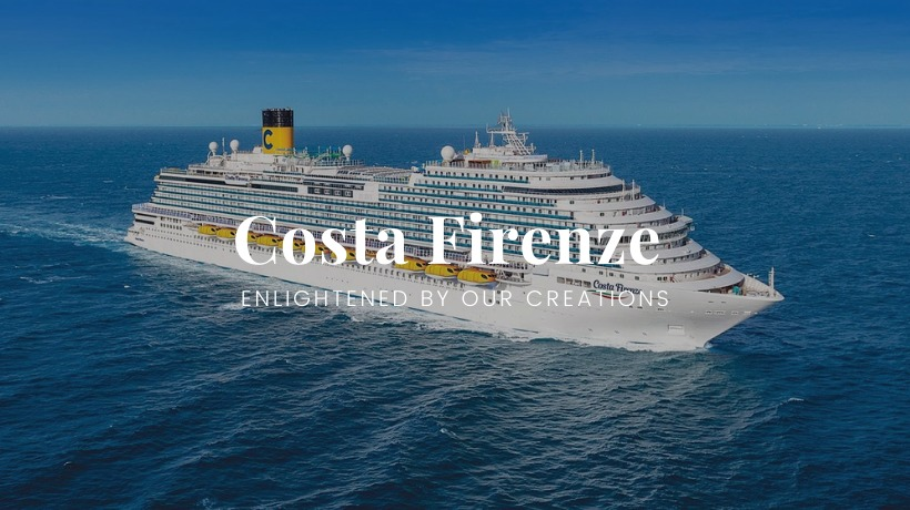 Costa Firenze: another cruise ship enlightened by Patizia Volpato's creations