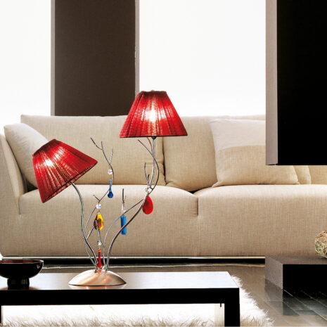 Bon Ton 390-LG : Lampada da tavolo moderna con bracci in ferro