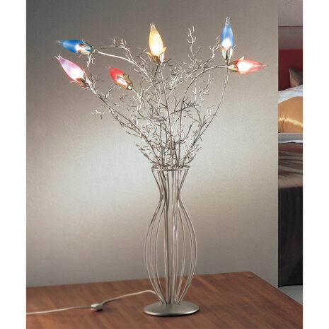 Erica 4060-LG : Lampada da tavolo rustica con bracci in ferro