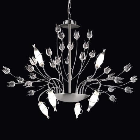 Giglio 385-S10 : Lampadario moderno con bracci in ferro
