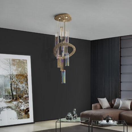 Iride 7700-S180 : Sospensione moderna in vetro di Murano