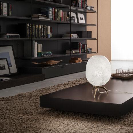 Stone 7800-LP : Lampada da tavolo moderna con vetro soffiato
