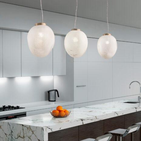 Stone 7801-S : Sospensione moderna con vetro soffiato