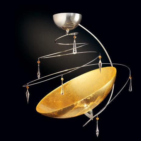 Vertigo 460-PL50 : Lampadario moderna con cristalli Swarovski e vetro