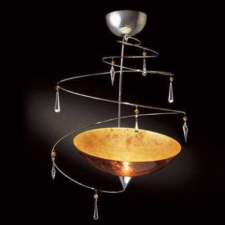 Vertigo 460-S40 : Lampadario moderna con cristalli Swarovski e vetro