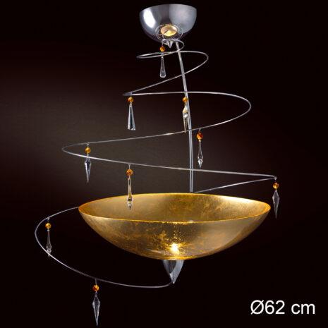 Vertigo 460-S50 : Lampadario moderna con cristalli Swarovski e vetro