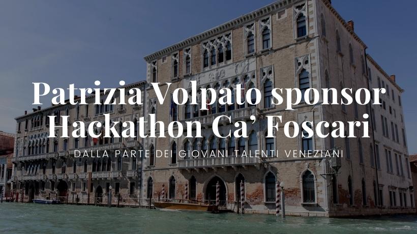 Patrizia Volpato sponsor Hackathon Ca' Foscari Venezia